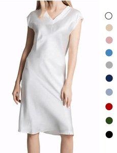 Dames zijden pyjama dress