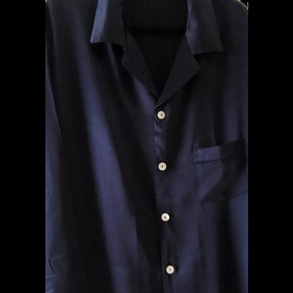 Heren zijden pyjama  set (korte mouwen + Shorts)