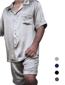 Men's silk pajama set (shortama)