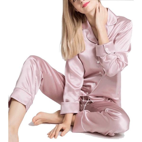 Dames zijden pyjama set