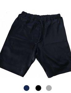 Shorts en soie pour hommes bleu marine