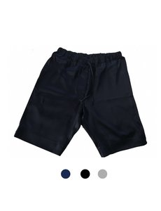 Shorts de seda para hombree azul marino