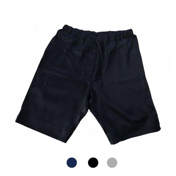 Pantalones cortos de seda para hombree -azul marino