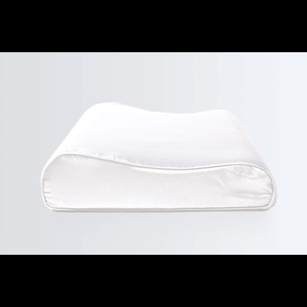 Funda de almohada de seda para la almohada ergonómica 22 momme