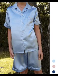 Jongens zijden pyjama (shortama)