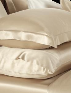 Funda de almohada de seda 19mm Champán