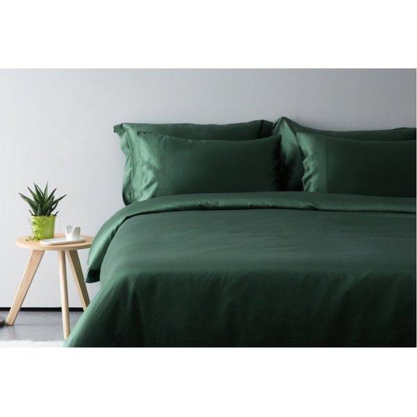 Silk flat sheet 19momme forest green