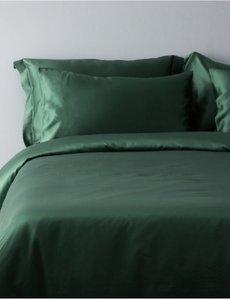 Silk duvet cover 19mm forest green