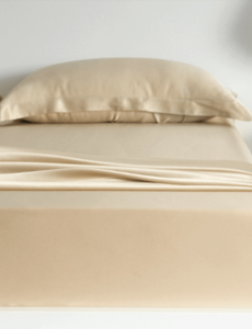 Silk fitted sheet 19mm Champagne
