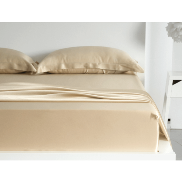 Silk fitted sheet 19momme Champagne