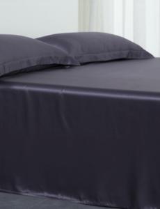 Silk flat sheet 22mm anthracite grey