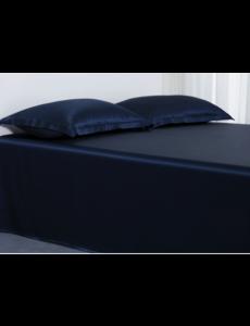 Silk flat sheet 22mm navy blue