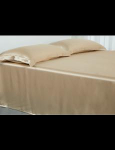 Silk flat sheet 19mm Champagne