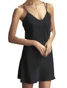 Silk dress with spaghetti straps
