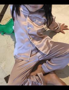 Girls silk pajama set  (long)