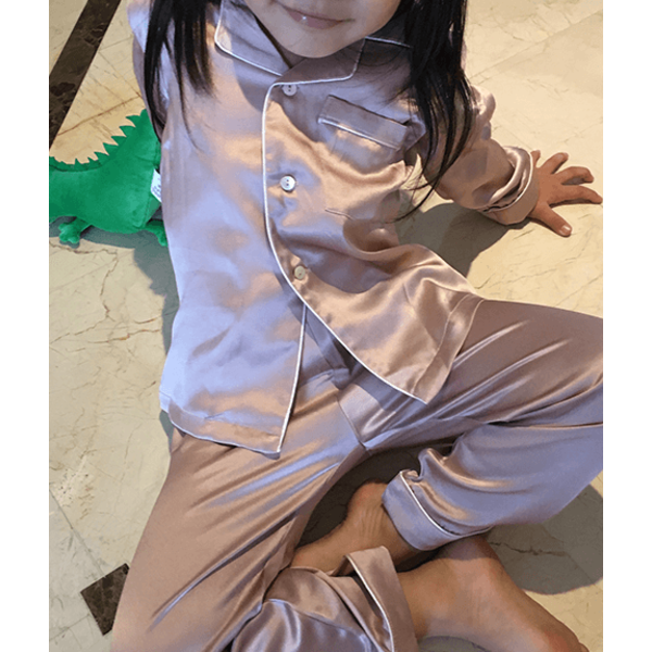 Meisjes zijden pyjama set