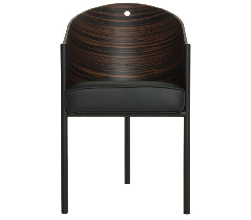 Costes chaise Bamboo, Wengé striped en Gris Oak