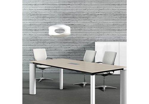 Mdd Crystal table de conférence en bois-verre