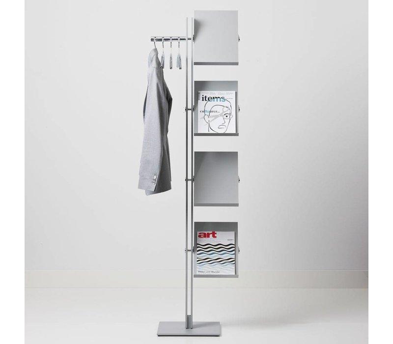 Standfree garderobe en lectuurhouder