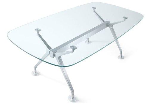 Interstuhl Silver table de conférence en argent en verre