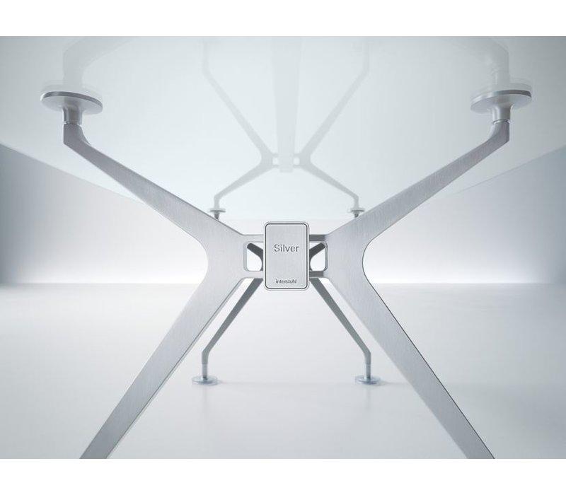 Silver vergader- conferentietafel in glas
