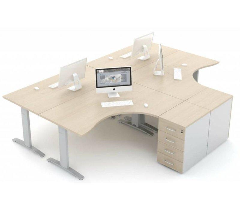 Ergonomic bureau en hoekbureau verstelbaar
