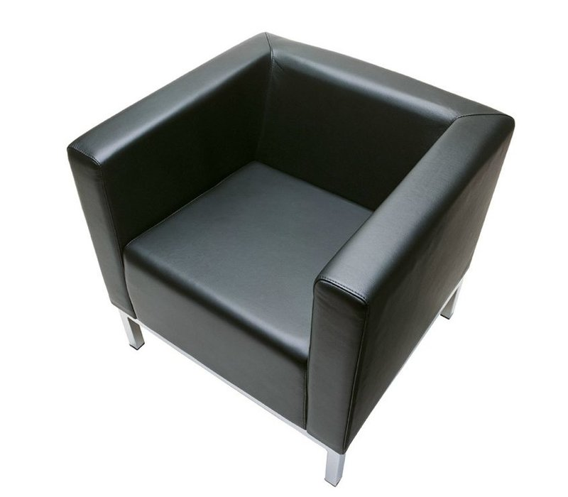 Polo fauteuil in leder