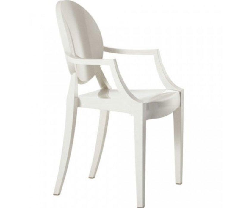 Louis Ghost stoel in zwart of wit