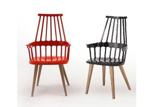 Kartell Comeback chaise avec pieds en bois