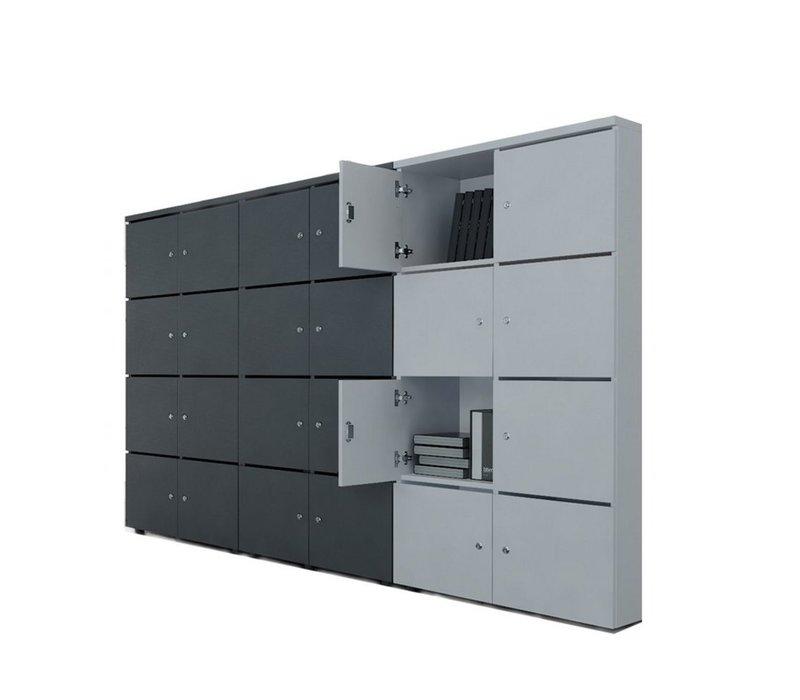 Melamine lockers 162H cm