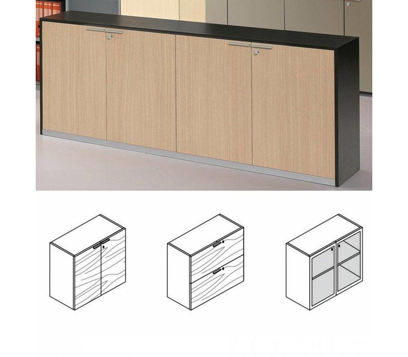 A100 armoire Basse en mélamine