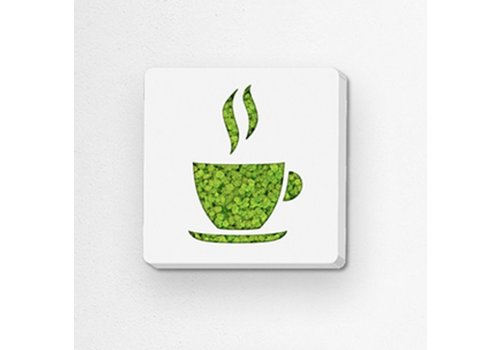 GreenOffice Pictogram uit mos - Coffee
