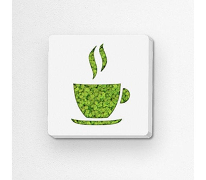 Pictogram uit mos - Coffee