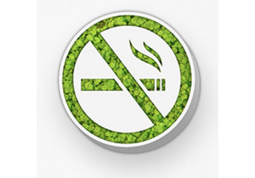 Green Mood Pictogram uit mos - No Smoking
