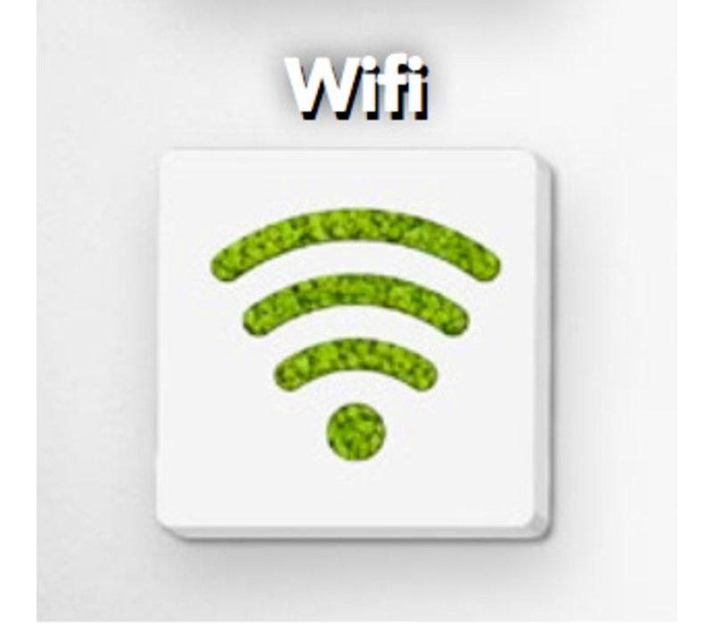 Pictogram uit mos - Wifi
