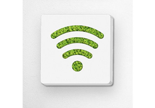 Green Mood Pictogram uit mos - Wifi