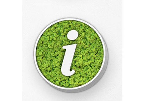 GreenOffice Pictogram uit mos - Info circle