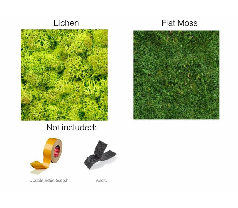 Gepersonaliseerde logo's uit mos
