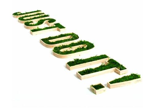 Logos personnalisés végétalisé en mousse