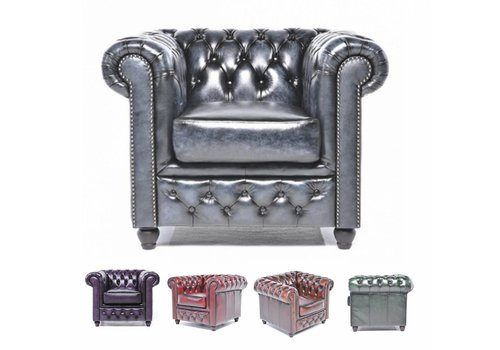 Chesterfield Original Antique fauteuil
