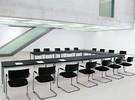 S-Line bureau van 180 en 200cm in glas