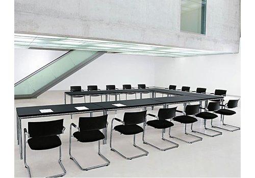 Bosse S-Line bureau van 180 en 200cm in zwart melamine