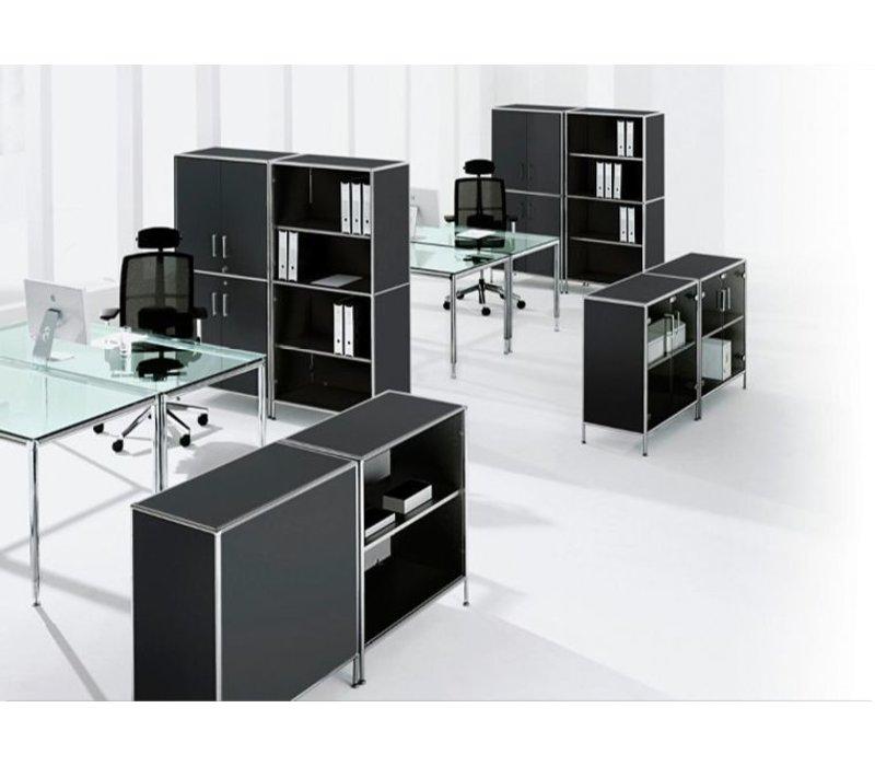 S-Line bureau ou table de conférence, carré 100cm