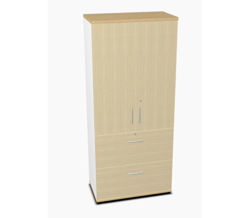 Kast met 2 deuren en 2 hangmappenlades