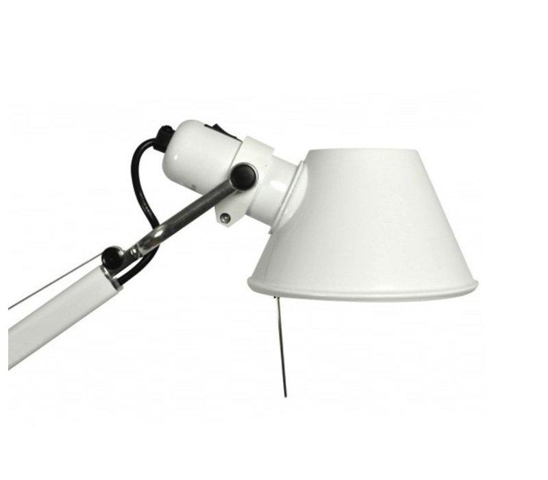 Tolomeo bureaulamp met voet Zwart/Wit of LED