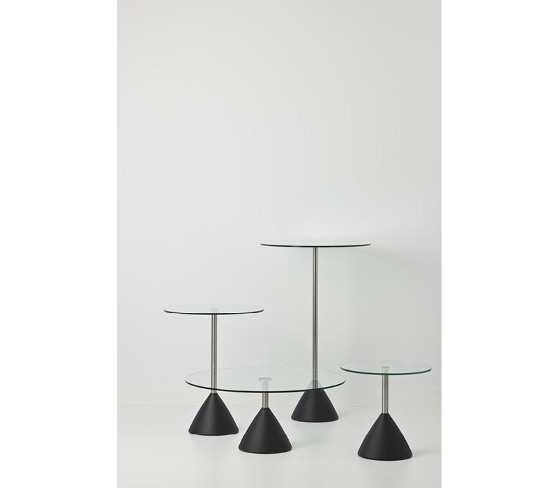 Cobalt salontafel in glas