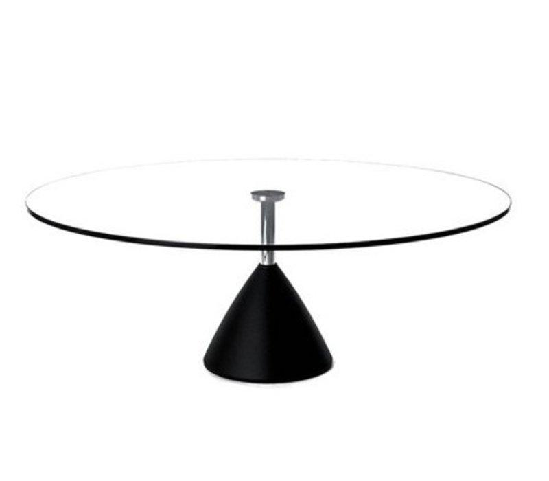 Cobalt table de salon en verre