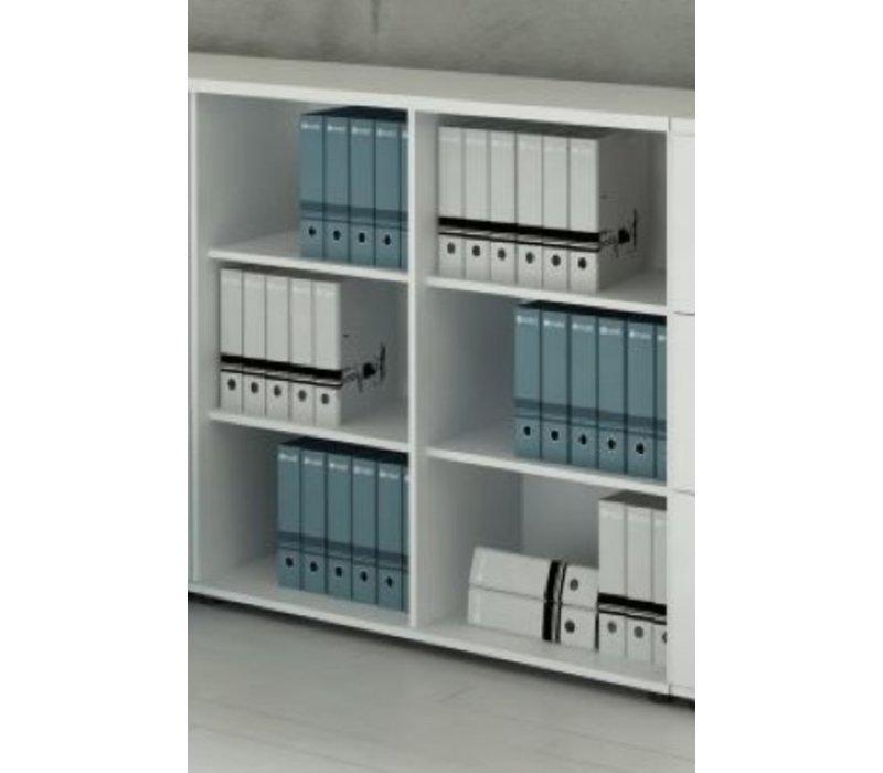 Basic étagère basse 74 - 77 - 113cm