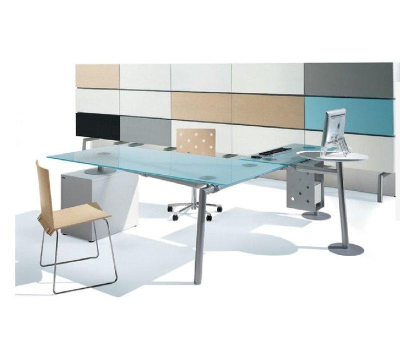Isotta rechthoekig bureau