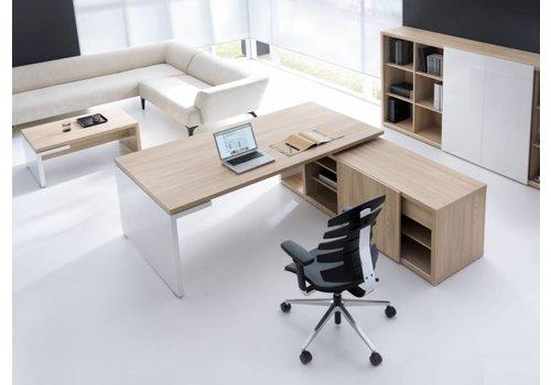 Mdd Bureau Mito avec meuble porteur